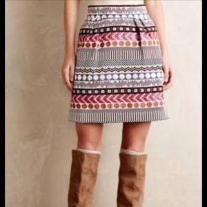Anthropologie Metallic Skirt Nomad x Morgan Carper